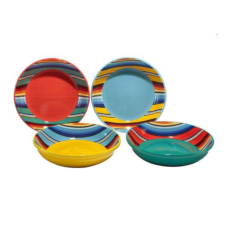 Certified International Pinata 4-pc. Pasta Bowl Set., Multicolor