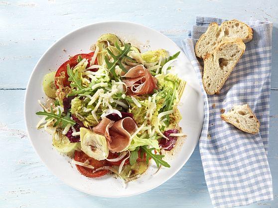 Salade met parmaham en kaas