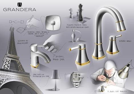 Add some classic glamour to your home-spa with the GROHE Grandera ™ Collection #spa #faucet #bathroom http://www.grohe.co.uk/en_gb/bathroom-collection/mixer-taps-grandera.html