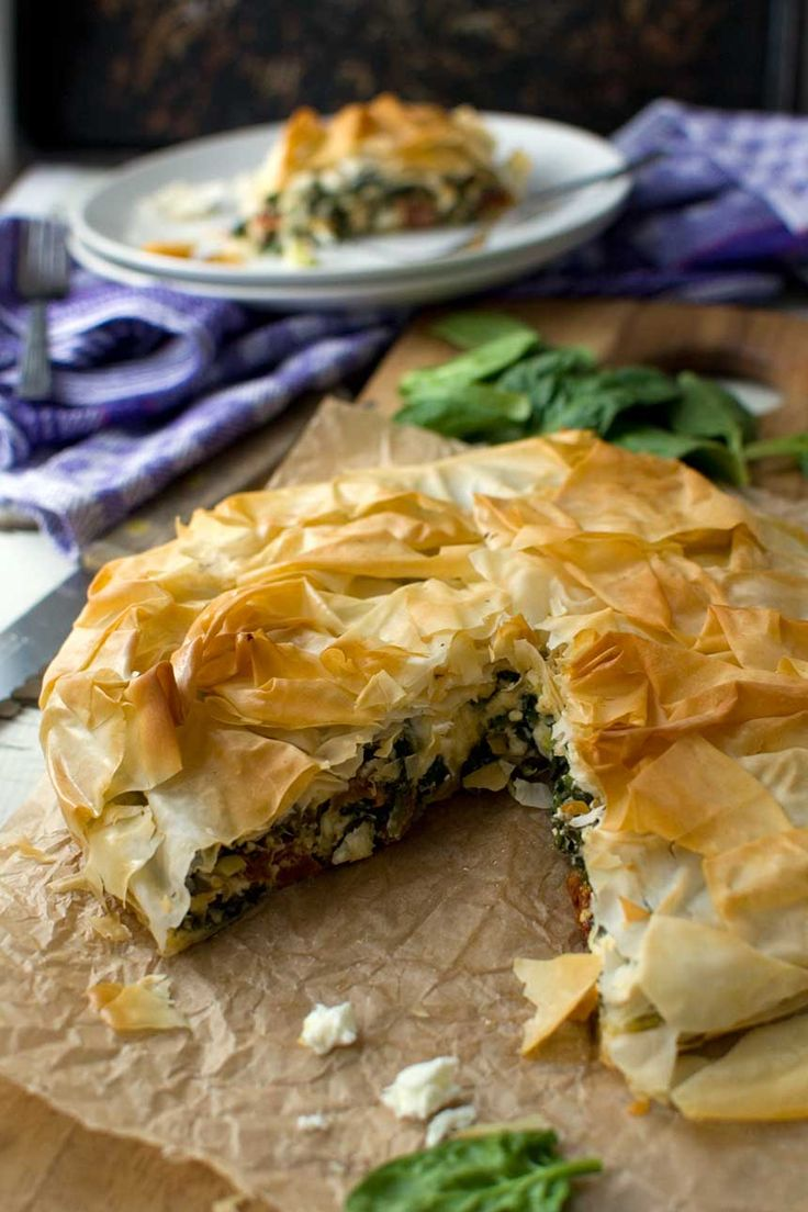 A delicious spinach and feta filo pie that tastes just as yummy as the ones you can buy everywhere in Greece. So easy to make!
