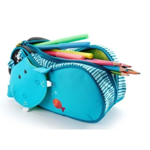 Beautiful tourquise hippo pencil-case. Love it! <3 Must have at school. Perfect for pupils. #backtoschool