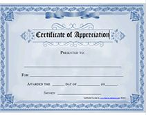 Free Certificate Of Appreciation. Printable CertificatesAward ...  Free Printable Certificate Of Recognition