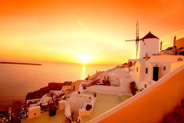 Plan your wedding in Santorini watching the gorgeous sunset - https://weddingingreece.com/plan-your-wedding-in-santorini-watching-the-gorgeous-sunset/