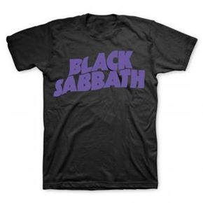 Official shirt from Black Sabbath featuring Master Of Reality logo on the front with plain back.