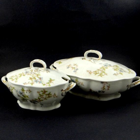 Victorian Soup and Gravy Tureens by Bawo & by ElizaBellaVintage