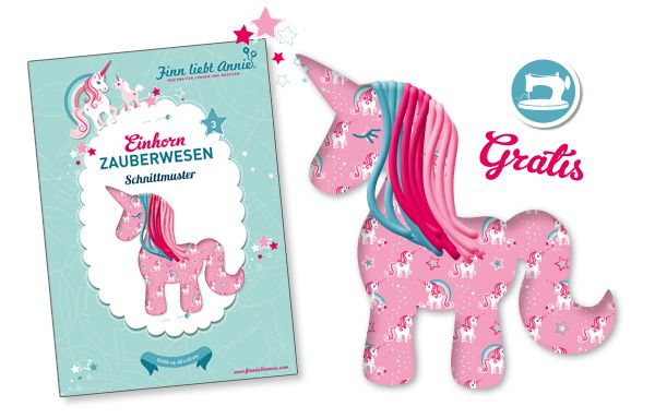 Tante Ema Stoffe -Einhorn-Party Unicorn Sewing Pattern Freebie nähen mit Kindern