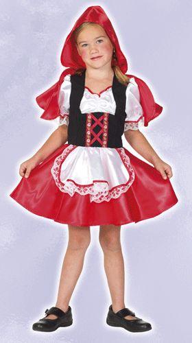 Roodkapje kostuum voor meisjes. Dit lieve roodkapje kostuum voor meisjes bestaat uit een jurk met rode rok, rode capuchon en wit met zwart gekleurde bovenkant. Perfecte verkleed kleding om in de sprookjessfeer te komen! Carnavalskleding 2015 #carnaval
