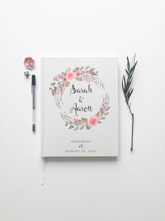Hochzeit Gästebuch. Gästebuch Hochzeit. Floral von PrintSmitten