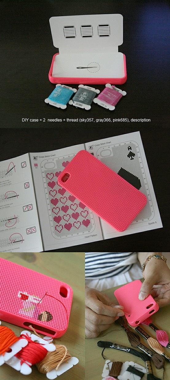 Cross stitch Iphone case. #Iphone #stitch #case