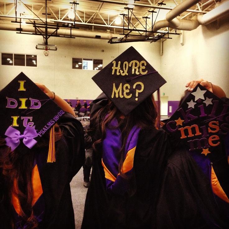 Graduation cap ideas. Ha i Love it Hire me!   crafts for ...