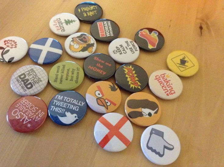 Have you checked out our selection of button badges yet? We hand make all of our… – Button badges