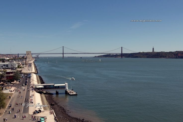 Vistas hacia el Monumento a los Descubridores y el Puente 25 de Abril. #Belém, #Lisboa, #lisbon #portugal