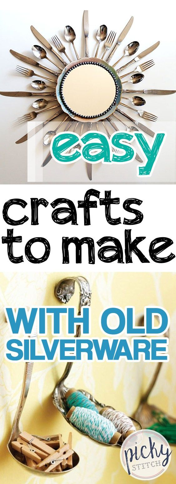 Easy Crafts to Make With Old Silverware