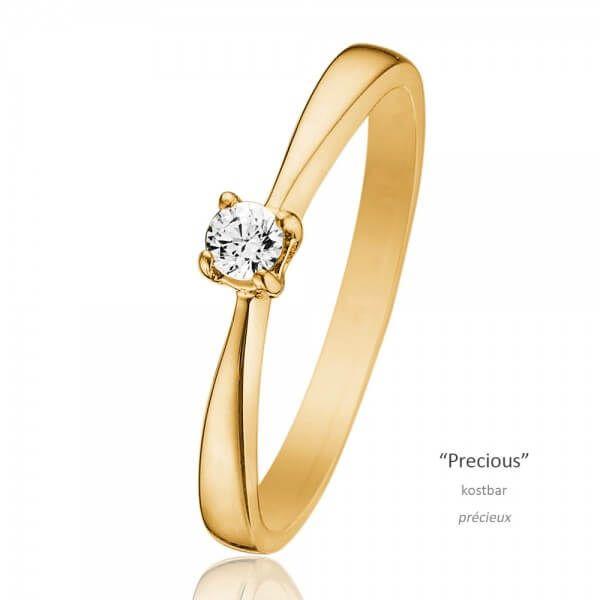 Gelbgold Diamantring Precious 0,10 ct.