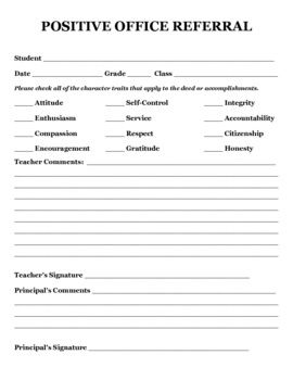 Now this is a great PBIS form. This is perfect for those kids who never seem to get | http://tipsforsoftskills.blogspot.com
