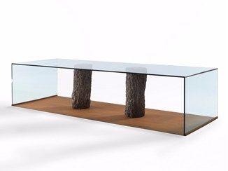 Прямоугольный деревянный и стеклянный стол Лагуна - Рива 1920