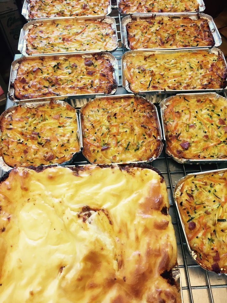 Homemade lasagnes made in various sizes.... Extra large ones are made to order