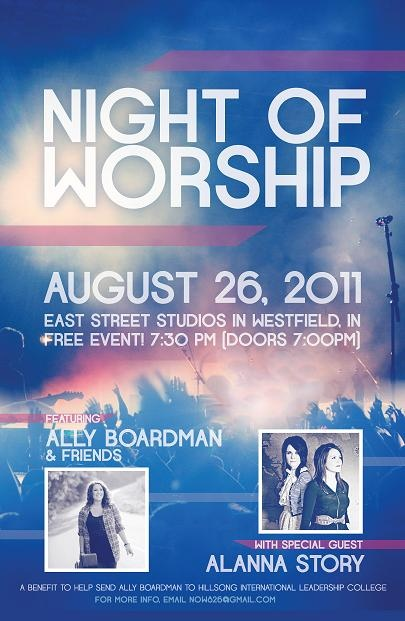Image detail for -... Night of Worship. He designed our flyers and they look AMAZING! Thank