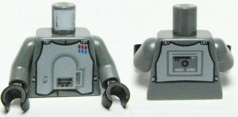 Dark Bluish Gray BrickLink - Part 973pb0625c01 : Lego Torso SW Imperial Officer 3 Pattern (Hoth) / Dark Bluish Gray Arms / Black Hands [Minifig, Torso Assembly] - BrickLink Reference Catalog