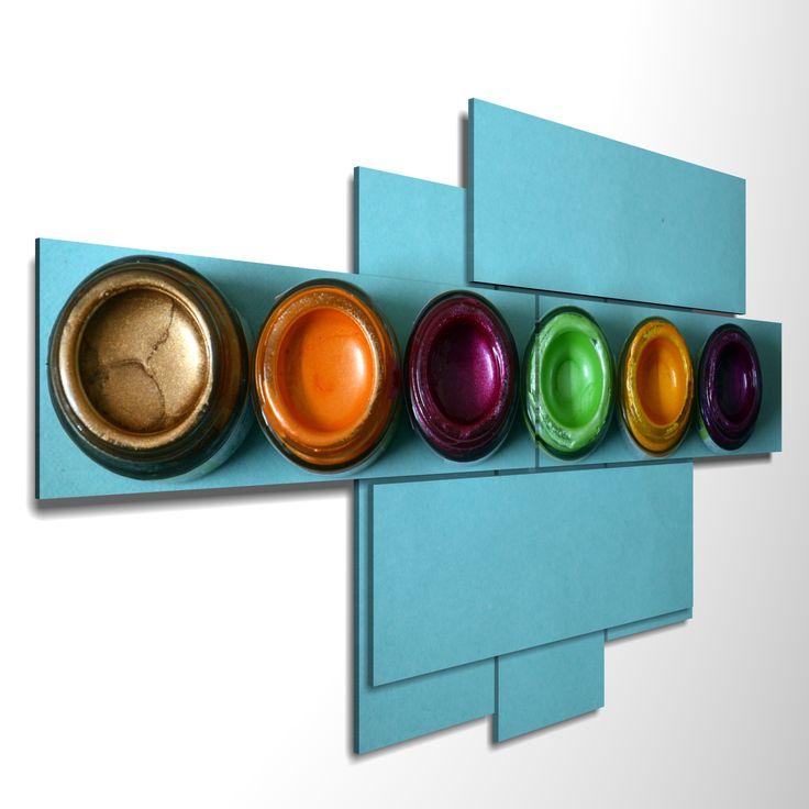 7 pieces – 171 x 97 cm  #quadri3D #design #wallart #multipanel #quadri