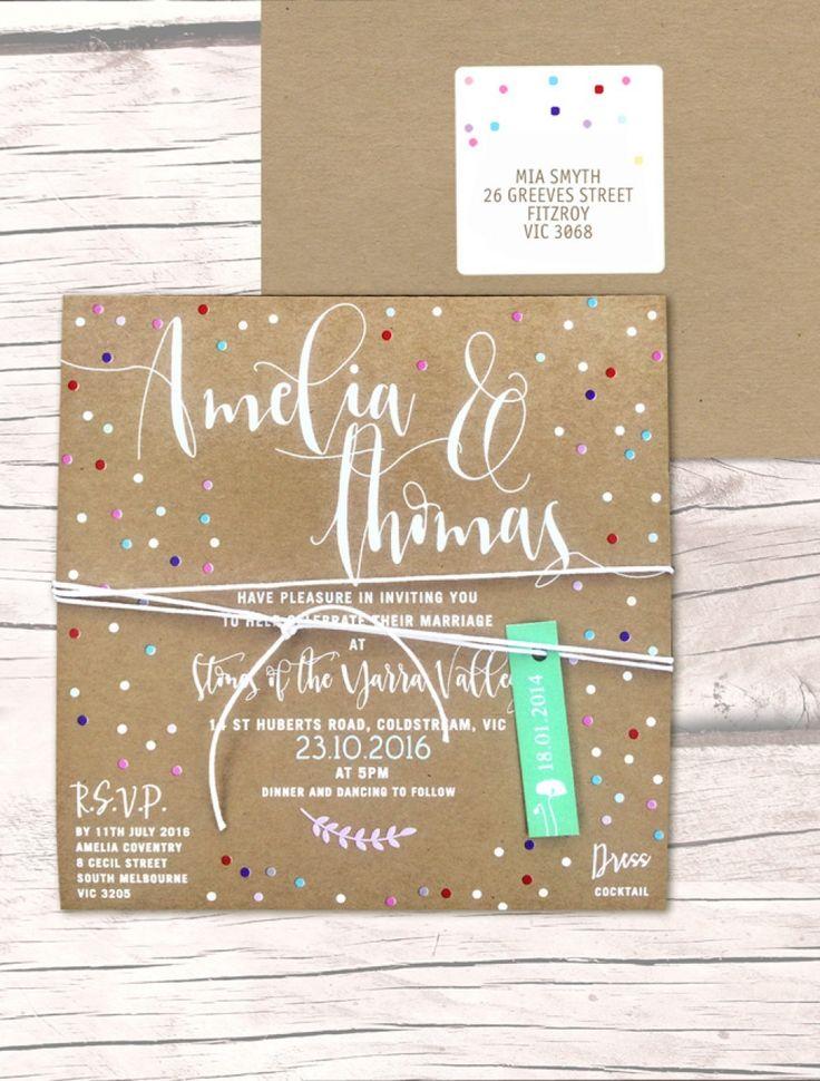 Más de 25 ideas increíbles sobre Wedding invitations australia en ...
