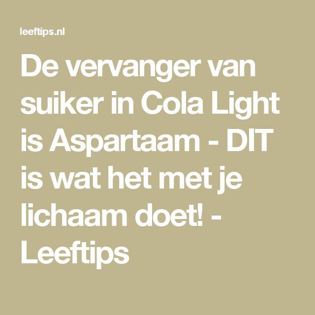 De vervanger van suiker in Cola Light is Aspartaam - DIT is wat het met je lichaam doet! - Leeftips