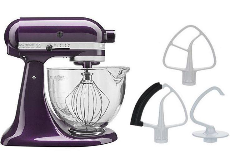 KitchenAid Stand Mixer KSM154GB 5-Qt W/Glass …