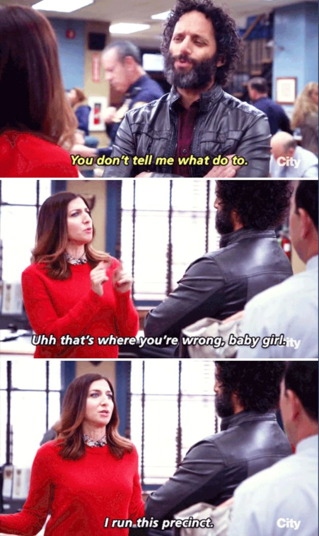 "She runs the precinct. | 22 Reasons Why We All Aspire To Be Like Gina From ""Brooklyn Nine-Nine"""