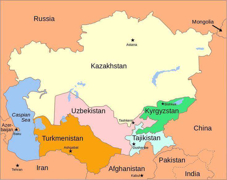 File:Central Asia - political map 2008.svg