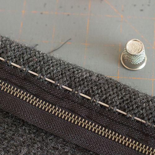 Knitting Zipper Tutorial : Best images about knits finishing embellishing on