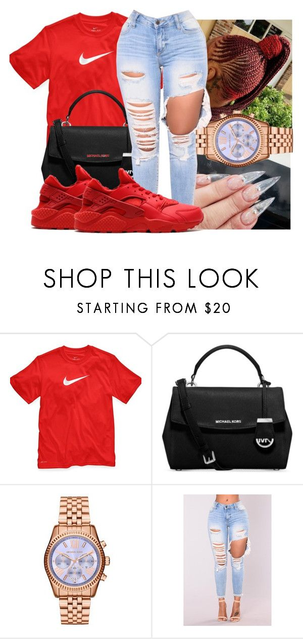 8ea6cbf4127b3d by saditydej ❤ liked on Polyvore featuring NIKE and Michael Kors ...