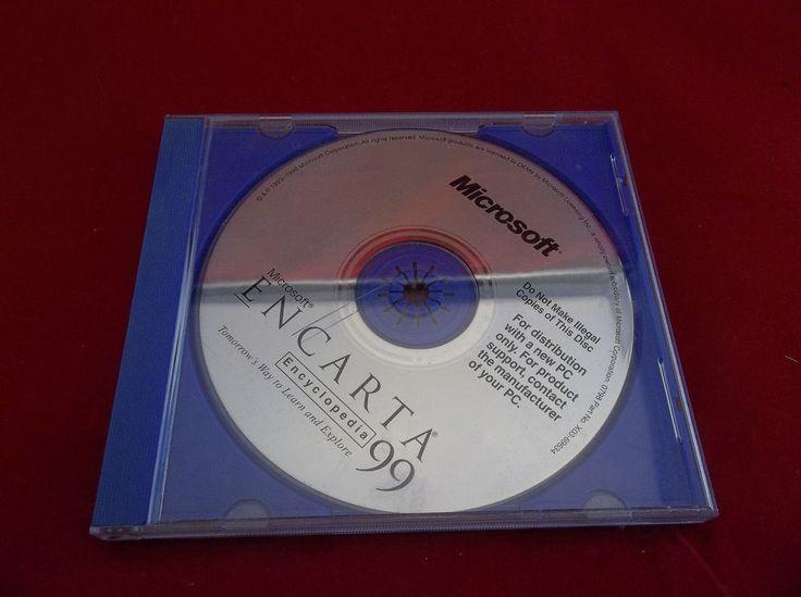 Microsoft Encarta Encyclopedia 1999 PC CD-ROM Software Disc   #Microsoft #Encarta #Encyclopedia #PC #Windows #CDROM #Software #Vintage #eBay