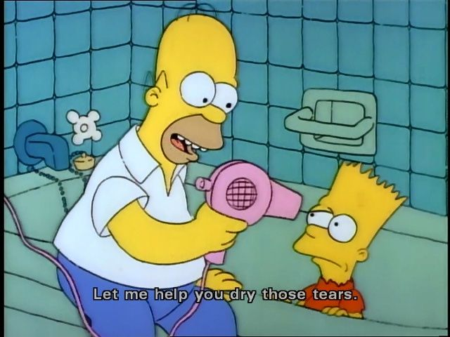 Let Me Help You Dry Those Tears  Simpson. Find This Pin And More On The  Simpsons Memes U0026 Funny Quotes ...
