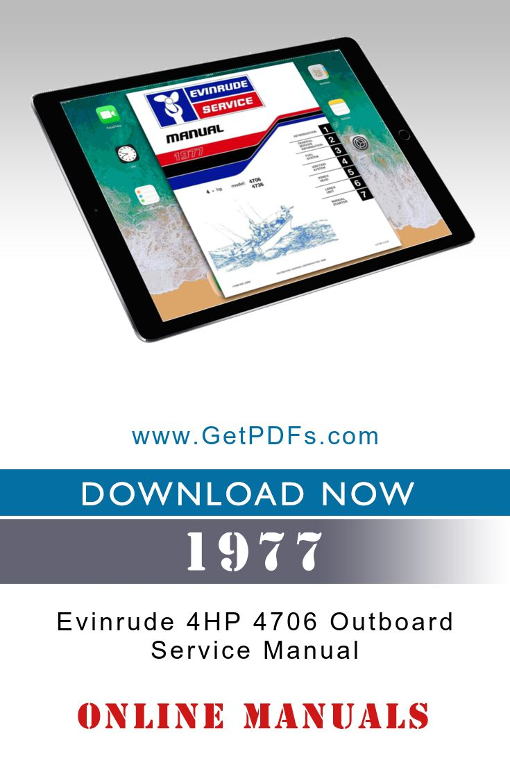 Download Manual For Evinrude 4hp 4706 Outboard Motor Online  Manual P  N  5303 Covers 1977