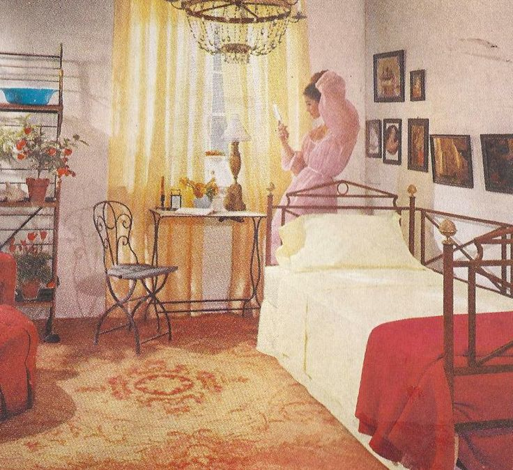 Best 48 Best Vintage Bedrooms Images On Pinterest Retro 400 x 300