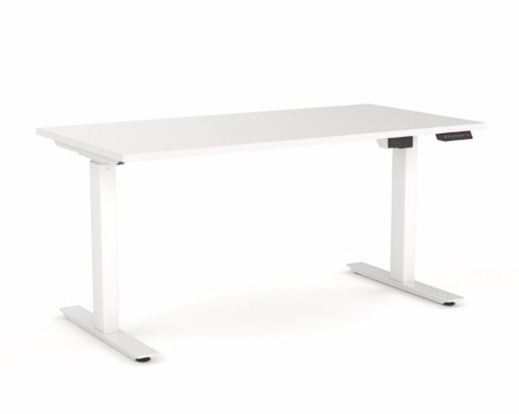 OLG Agile Height Adjustable Electric Desk 2 Column 705-1185mm White – Dunn Furniture