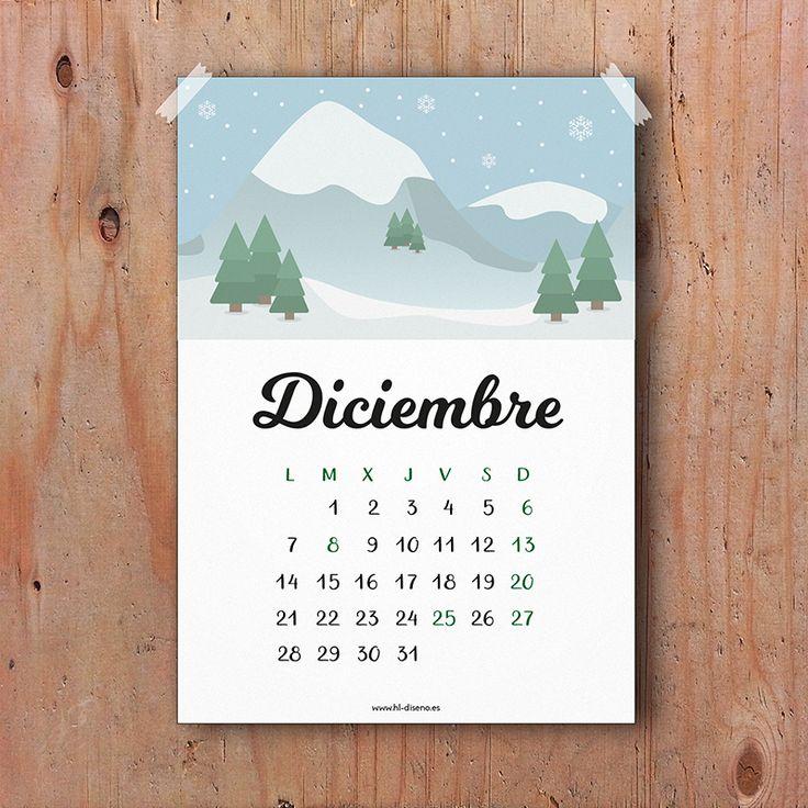 Calendario Diciembre 2015 descargable gratis