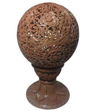 Exquisitely hand carved large candle or tealight holder gorara natural stone. This Gorara Item is versatile, with many uses. Can be used as a tealight, candle or votive holder. Turned upside down, it can be used as a container to store things, or to display dried flower arrangement. It can also be used as a perfume diffuser in rooms, offices and bathrooms.     Comes in two sizes 3.5 inch dia and 6 inch dia. The stand adds extra height. The larger one is over 8 inches in height.     The…