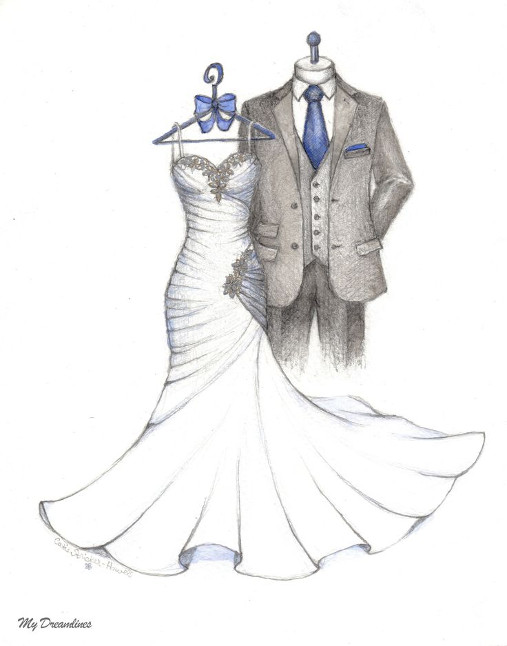 This sketch was made as a wedding gift from the Groom to the Bride.  Sketched by Catie Stricker-Howell