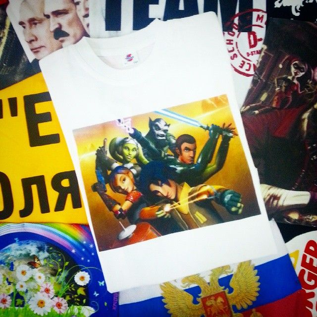 Быстро печатаем ваши идеи! 1001futbolka.ru #1001 #Футболка #1001футболка #1001futbolka #майка #печать #starwars