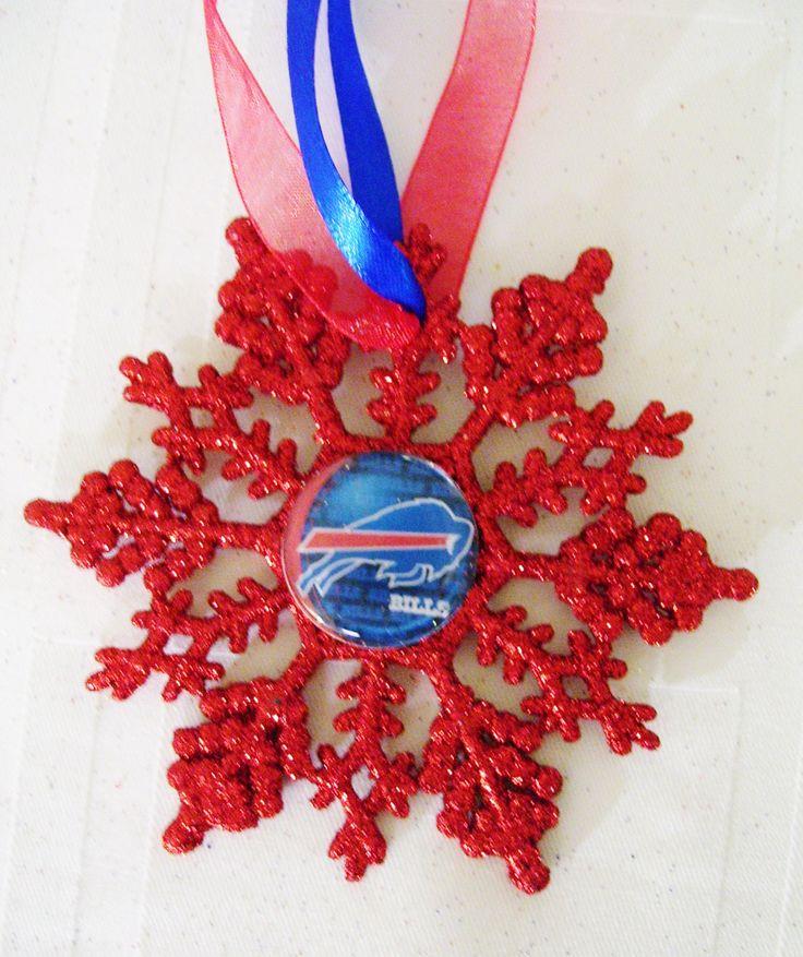 Buffalo BILLS Football Fans!! Handmade Glitter Snowflake by ZZsTeamTime on Etsy