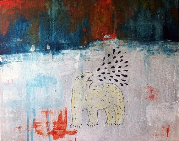 Polar Bears And Dinner Time A3 Giclee Print by Charlottespictures