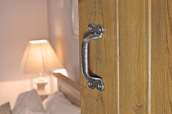 Kirkpatrick 1125 Melville Door Pull Handle - Pewter Finish - A high quality, iron pull handle. Unsurpassable British quality, hand forged in a foundry in the West Midlands.