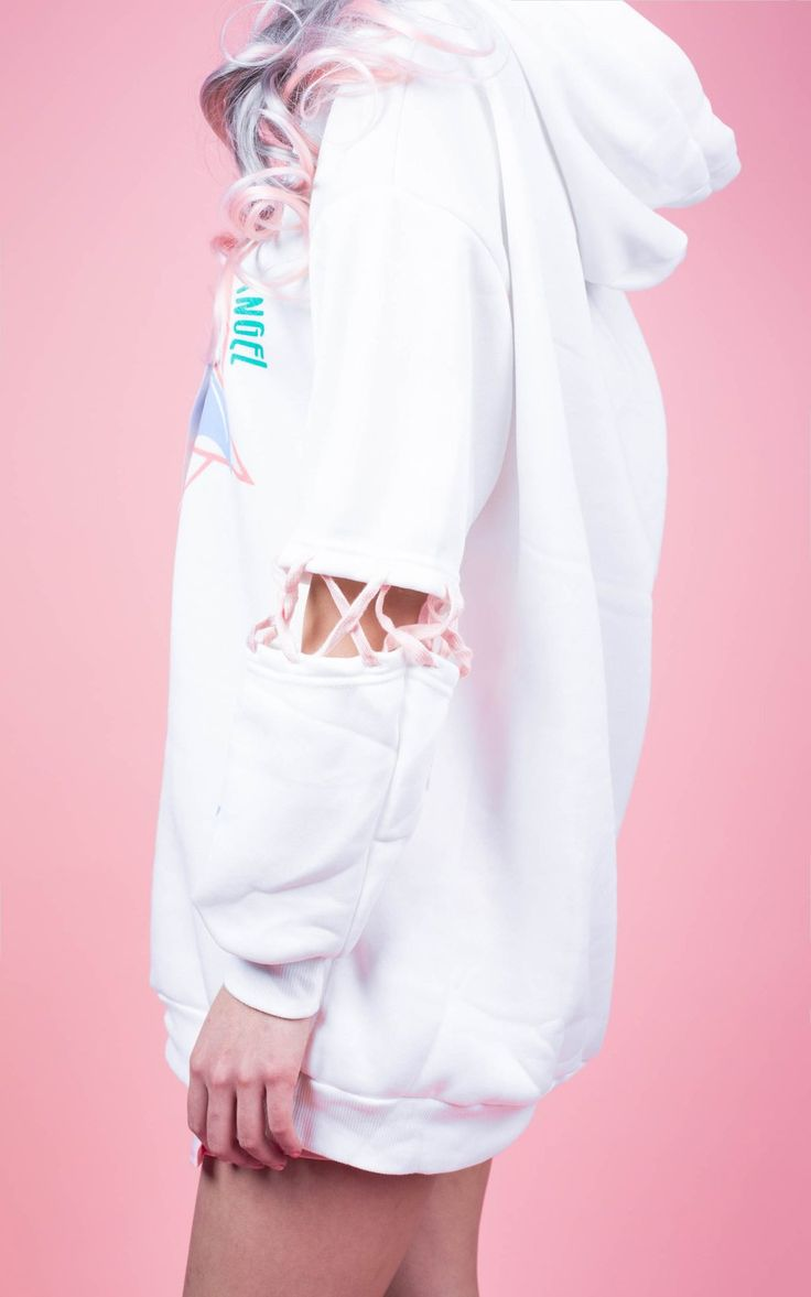 AIKO'S EVIL BUNNY LACE UP SWEATER