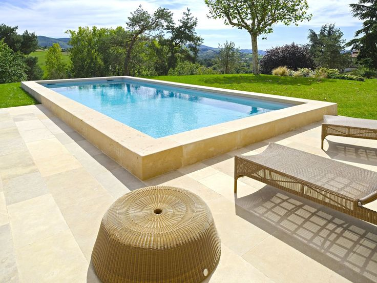 L 39 esprit nature par l 39 esprit piscine 11 x 4 m rev tement - Plage piscine pierre naturelle ...
