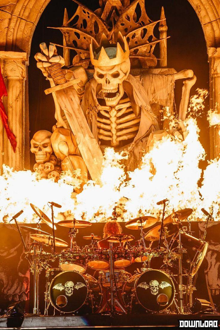 Av av avenged sevenfold tattoo designs - Avenged Sevenfold Awesome Stage And Pyro
