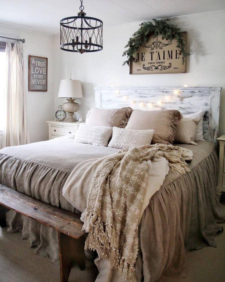 65 Charmante, rustikale Schlafzimmer Ideen und Designs
