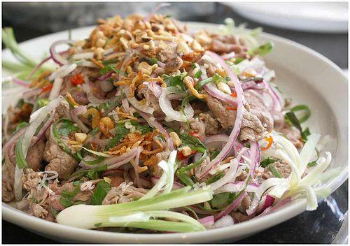 Bo Tai chanh beef carpaccio vietnamese style