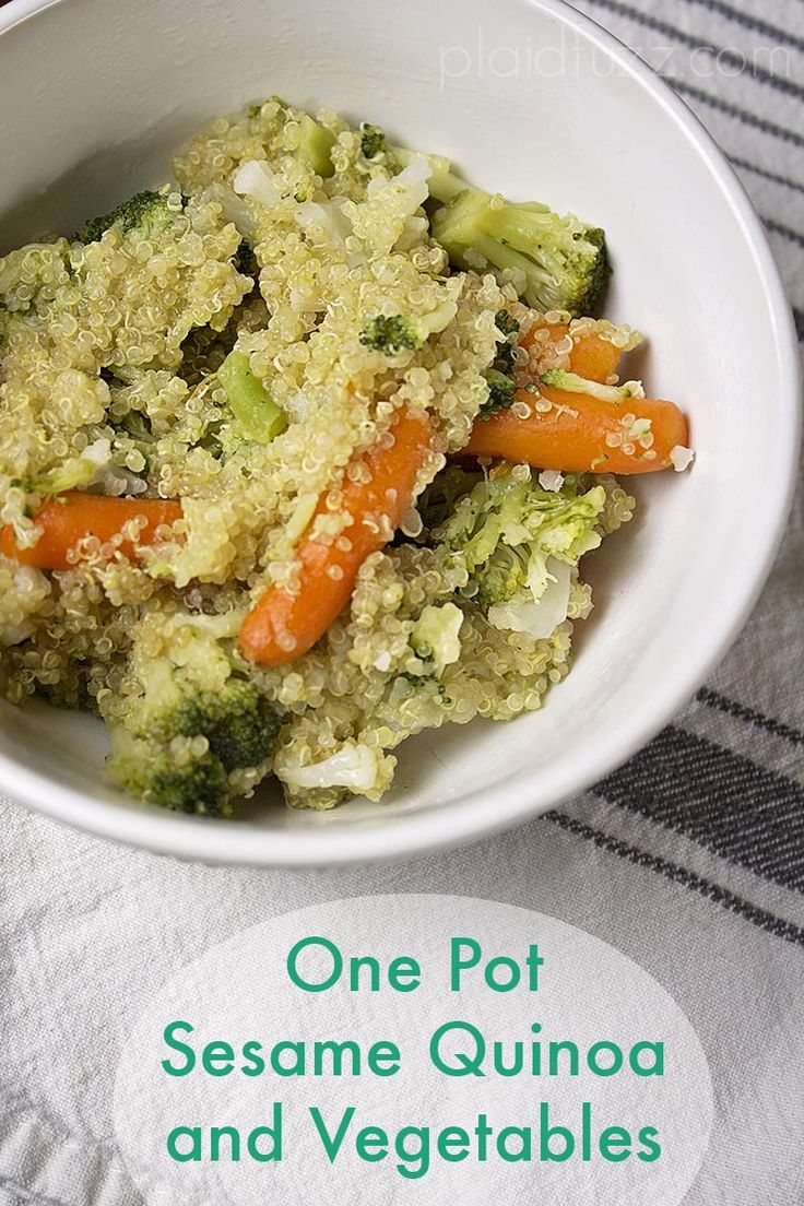 One Pot Quinoa  Cook Quinoa In Rice Cooker And Vegetables In It's Steamer  Basket At Same Time