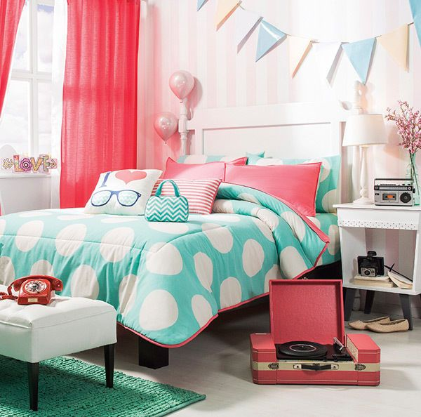 Twin And Full And Queen Size Girls And Teens Fashion Comforter Set #VNG
